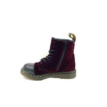 DR MARTENS 8 EYE LACE BOOT - WINE