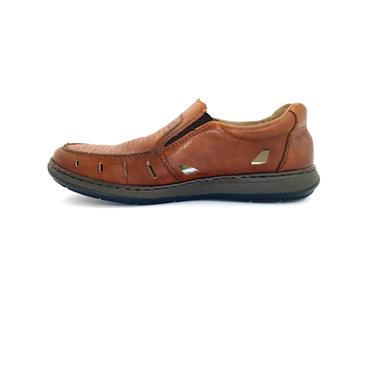 RIEKER MENS COMFORT CLOSED IN SANDAL - BROWN