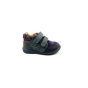 GARVALIN BOYS 2 VEL STRAP BOOT - NAVY