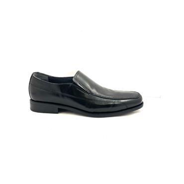 LUISETTI MENS DRESS STITCH SLIP ON SHOE - BLACK