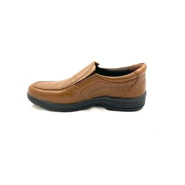 LUISETTI MENS LEATHER MOCC SLIP ON SHOE - COGNAC