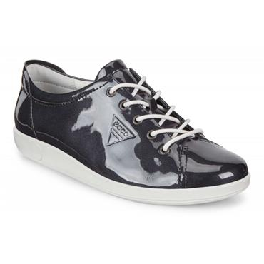 ECCO WOMENS SOFT LACE SHOE - NIGHT SKY