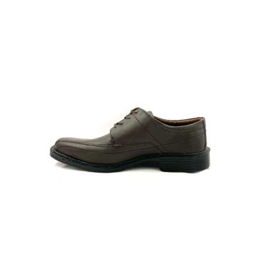 CATESBY MENS STITCH DRESS LACE SHOE - BROWN