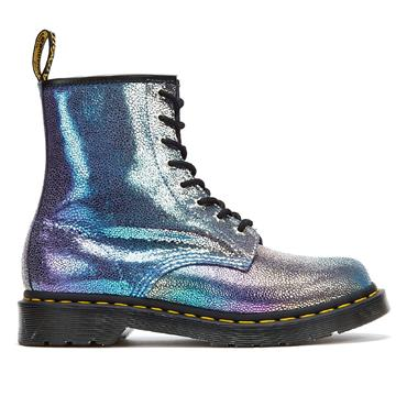DR MARTENS GIRLS 8 EYE LACE BOOT - GREY