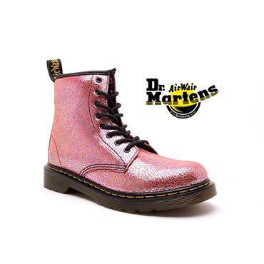DR MARTENS GIRLS 8 EYE LACE BOOT - PINK