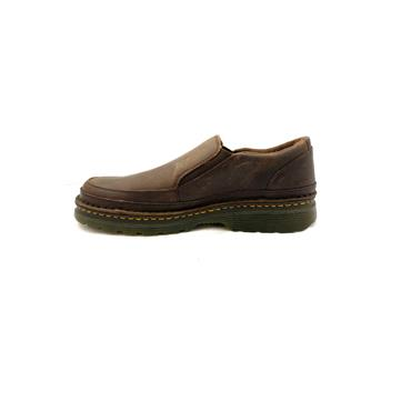 DR MARTENS MENS GUSSET SLIP ON SHOE - BROWN