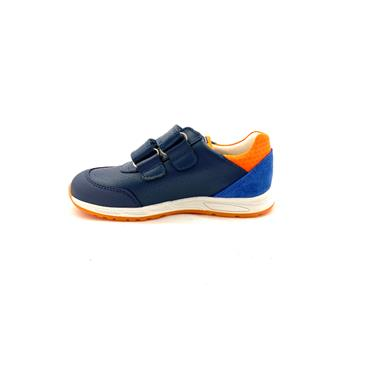 PABLOSKY BOYS 2 STRAP VEL RNR - NAVY ORANGE