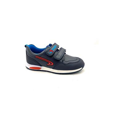 PABLOSKY BOYS 2 VEL STRAP SHOE - NAVY RED