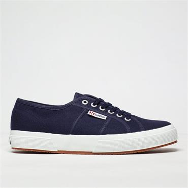 SUPERGA WOMENS CANVAS LACE TRAINER - NAVY WHITE