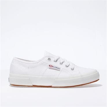 SUPERGA WOMENS CANVAS LACE TRAINER - WHITE