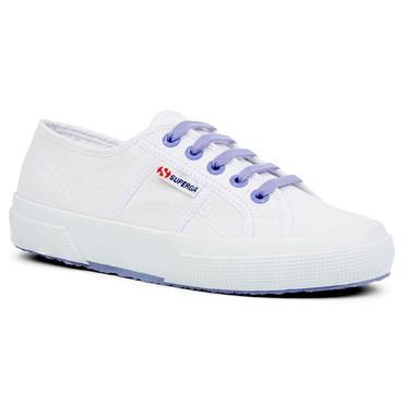 SUPERGA WOMENS CANVAS LACE TRAINER - WHITE VIOLET