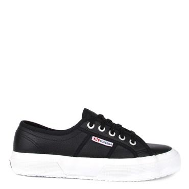 SUPERGA WOMENS LACE TRAINER - BLACK WHITE