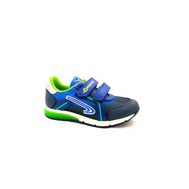 PABLOSKY BOYS 2 VEL STRAP RUNNER - NAVY GREEN