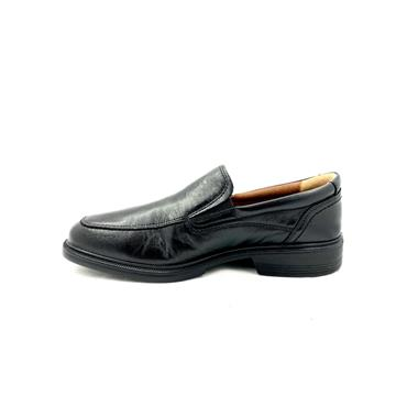 LUISETTI GTS LEATHER COMF SLIP ON SHOE - BLACK