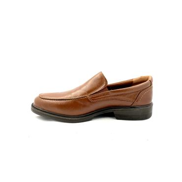 LUISETTI GTS LEATHER COMF SLIP ON SHOE - BROWN