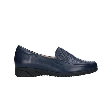 PITILLOS WOMENS LOW WEDGE HIGH CUT - NAVY