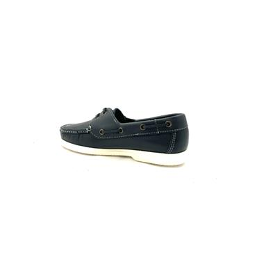 DECKS LDS TIE DECK SHOE - NAVY LEATHER