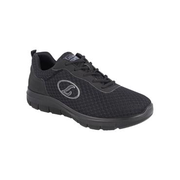 LUISETTI MENS WIDE FIT LACE TRAINER - BLACK