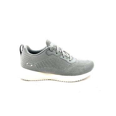 SKECHERS WOMENS BOBS SPORT LACE TRAINER - GREY