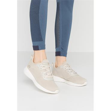 SKECHERS WOMENS BOBS SPORT LACE TRAINER - NATURAL