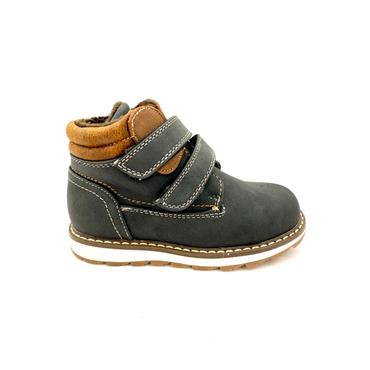 IDENTITY BOYS FURLINED 2 VEL STRAP BOOT - BLACK