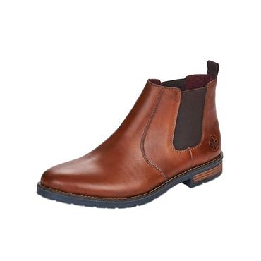 RIEKER MENS GUSSET ANKLE BOOT - BROWN