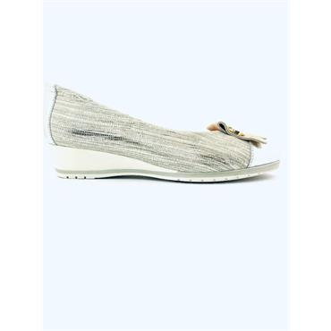 PITILLOS PIN FRINGE WEDGE COURT - SILVER