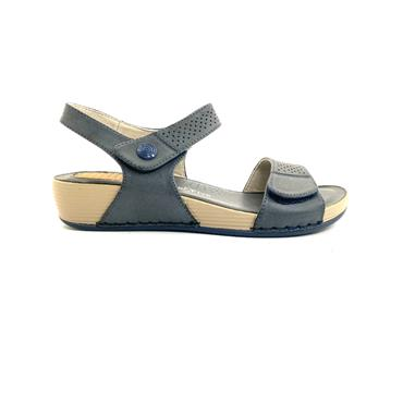 NINE TO FIVE LDS WEDGE VEL STRAP SANDAL - NAVY