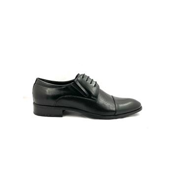 TRIOO MENS DRESS 2TONE LACE SHOE - BLACK LEATHER