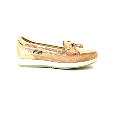 PITILLOS WOMENS BOW MOCCASSIN LOAFER - NUDE