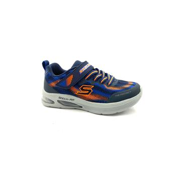 SKECHERS BOYS VEL LACE RUNNER - NAVY ORANGE
