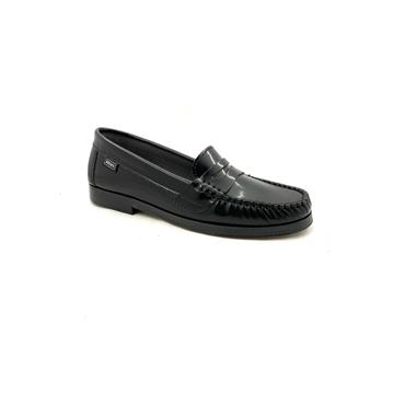 DECKS LDS MOCCASIN LOAFER - BLACK