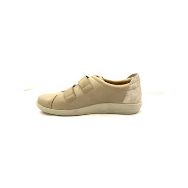 ATRAI WOMENS VELCRO COMFORT SHOE - TAUPE LEATHER