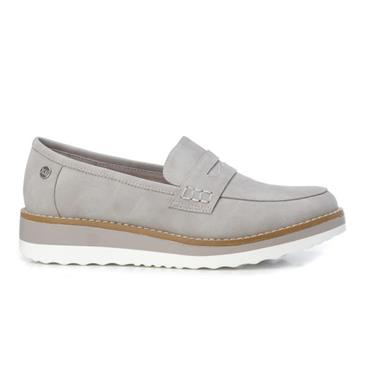 XTI WOMENS LOW WEDGE SLIP ON LOAFER - ICE