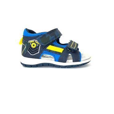 SPROX BOYS HEEL IN 2 VEL STRAP SANDAL - BLUE