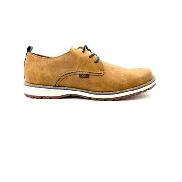 XTI MENS CASUAL LACE SHOE - CAMEL