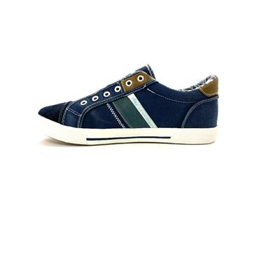 XTI MENS LACE TRAINER - NAVY WHITE