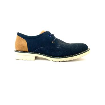 XTI MENS 2TONE LACE SHOE - NAVY TAN