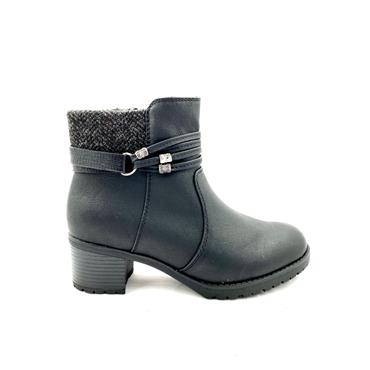 SPROX LDS ZIP ANKLE BOOT - BLACK