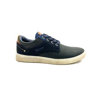 XTI MENS CASUAL LACE SHOE - NAVY