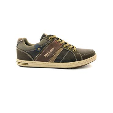 XTI GTS CASUAL TIE SHOE - BROWN