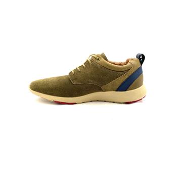 XTI MENS CASUAL LACE SHOE - TAUPE SUEDE