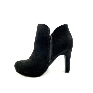 SPROX LDS P/FORM ZIP ANKLE BOOT - BLACK SUEDE