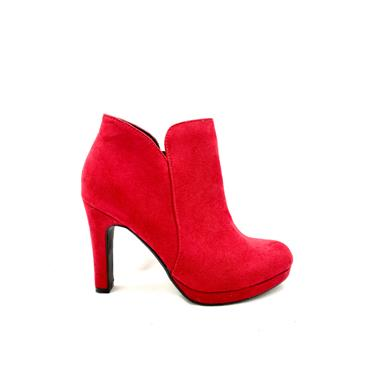 SPROX LDS P/FORM ZIP ANKLE BOOT - RED SUEDE