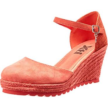 XTI WOMENS WEDGE CLOSED IN SANDAL - CORAL MULTI