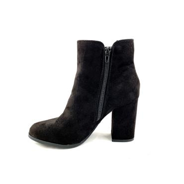 SPROX LDS GUSSET ZIP ANKLE BOOT - BLACK SUEDE