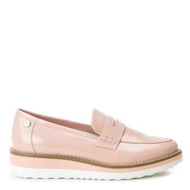 XTI LDS LOW WEDGE MOCCASSIN SLIP ON SHOE - NUDE PATENT