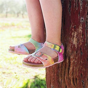 PABLOSKY GIRLS BUCKLE STRAP SANDAL - ROSE MULTI
