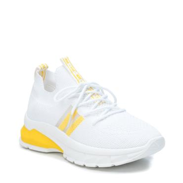 XTI WOMENS LACE TRAINER - YELLOW