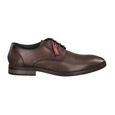 S OLIVER MENS DRESS PLAIN LACE SHOE - COGNAC